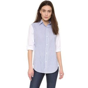 Current/Elliot blue and white striped button down
